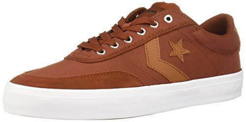 Converse Men's Courtlandt Cons Force Sneaker, Cinnamon/Warm Tan/White, 4.5 M US