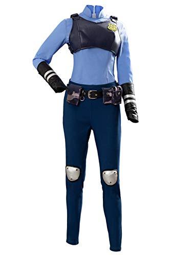 Mujer policía Judith Zoo Suit Traje Cosplay Disfraz Mujeres L