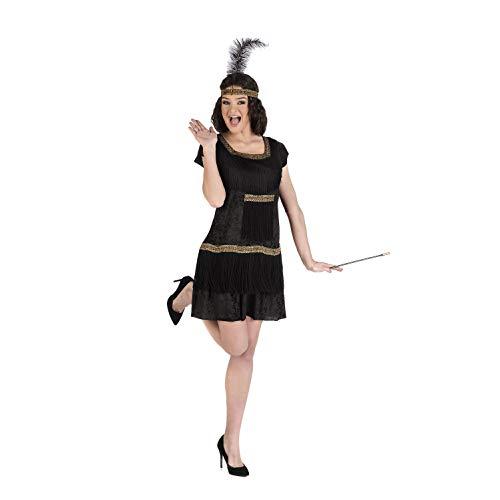Disfraz de Flapper Negro para mujer