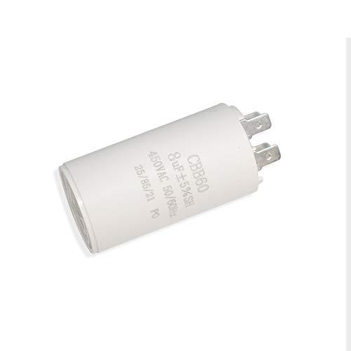 ICQUANZX 8uF CBB60-Kondensator mit Doppeleinsatz zum Starten von Wechselstrommotoren mit Einer Frequenz von 50 Hz / 60 Hz, Waschanlagen, Klimaanlagen, Kompressoren, Pumpen und Motoren