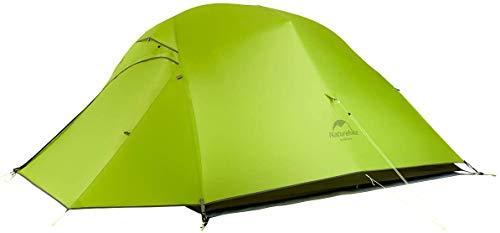 Naturehike Cloud-up Ultraligero Tienda 3 Persona Tienda de Campaña Impermeable Doble Capa Camping Tienda de Campaña (Verde Claro 20D)