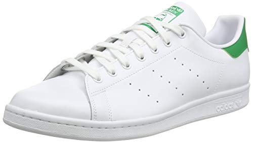 adidas Stan Smith M, Scarpe da Ginnastica Uomo, Footwear White/Core White/Green, 44 EU
