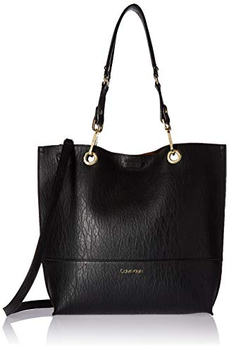 Calvin Klein Sonoma Reversible Novelty North/South Tote, Black