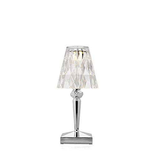 Kartell Battery Portable and Rechargeable Chromed Table lamp