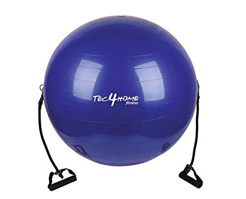 TEC4HOME Pelota de Pilates con Ligas – 65 cm – Ejercicios de Estabilidad – Ejercicios de Equilibrio -…