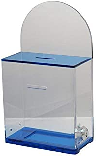 MCB Locked Donation Box with Back Wall Clear Display Area - for Fundraising Donation Box - Ticket Box - Collection Box (Tr...