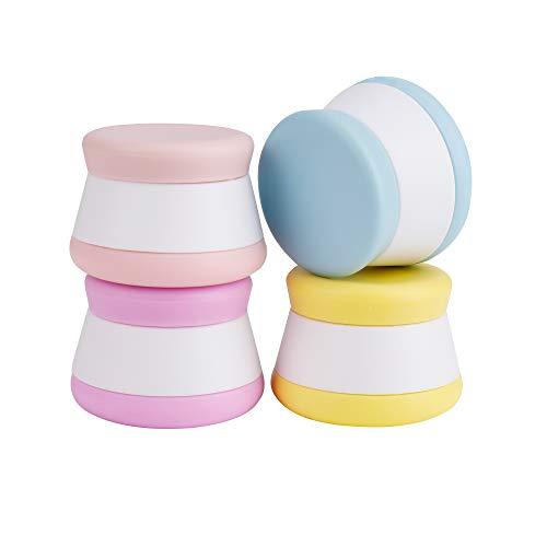 Silikon Kosmetische Creme Behalter 20 ml Auslaufsicherer Reise Flaschen Set mit Verschlossenen Deckeln Multifunktionsbehälter für Reisen Hause 4 Stück