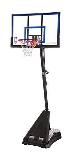 Spalding Hercules Portable Basketball Hoop with 50-Inch Acrylic Backboard, Black Base