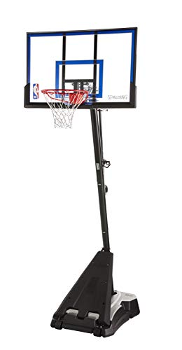Spalding Hercules Portable Basketball Hoop with 50-Inch Acrylic Backboard, Black Base