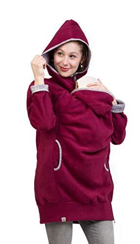 Viva la Mama - Jacke für Babytragen Fleecejacke Tragejacke Kängurujacke AHOI Beere- XS