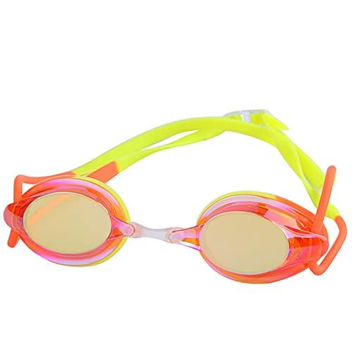 YWSZY Gafas Natacion, Gafas de Silicona a Prueba de Agua Gafas Adultas Competición Protección Anti-Niebla Gafas de natación Ajustables para Hombres y Mujeres (Color : Orange)