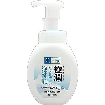 Espuma limpiadora facial Hada Labo Rohto Gokujyn, de ácido hialurónico y 160ml