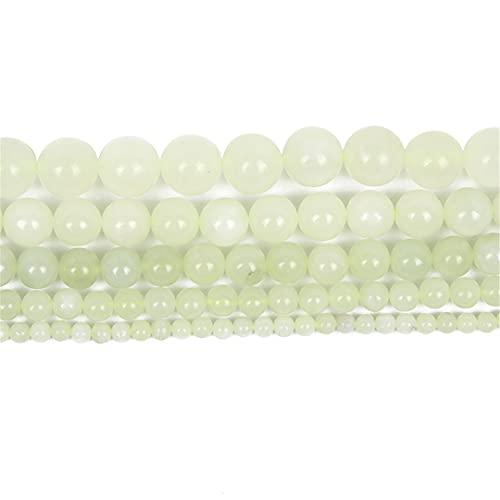 Piedra natural Jade Charm redondo cuentas sueltas para la fabricación de joyas de costura pulsera DIY Strand 4/6/8/10/12 MM H7379 12mm aproximadamente 30 piezas