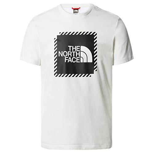 The North Face – Maglietta da Uomo a Maniche Corte Graphic 2 – Maglietta Standard con Collo Rotondo - White, L