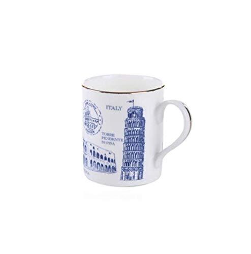 ZGQA-GQA Taza de cerámica Tazas de café Hueso China Mundial Famoso Monumento Global Clásico Edificio Serie Porcelana Cerámica Taza Caja de Regalo Embalaje