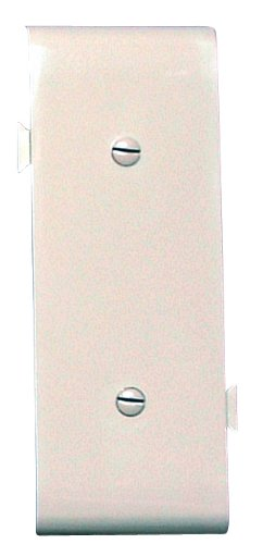 Legrand-Pass & Seymour PJSC14LA Sectional Thermoplastic Wall Plate, Junior Jumbo Blank Center Section, Strap Mounted, Light, Almond