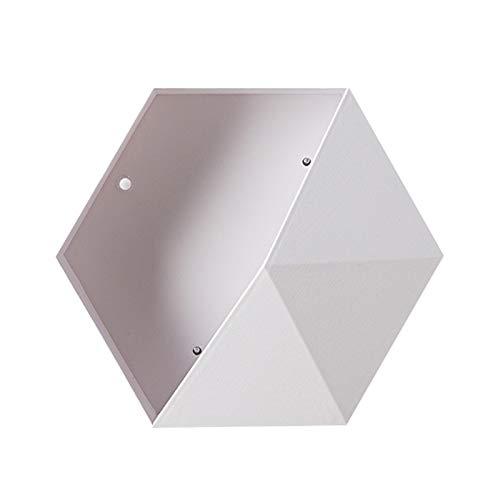 AchidistviQ Macetero hexagonal para colgar en la pared, para decoración del hogar, oficina, color blanco