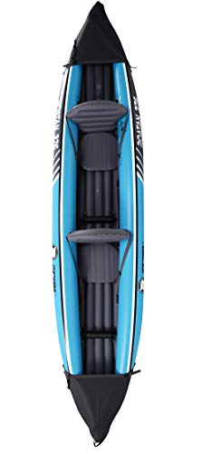 Best Price Pool Central 12' Inflatable Black and Blue 2-Person Zray Roatan 376 Kayak Set