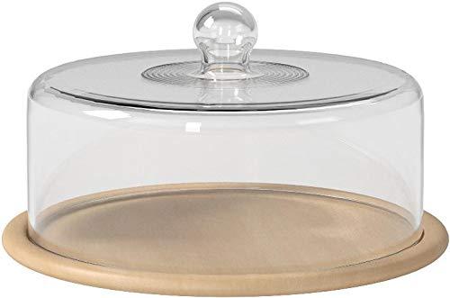 光洋陶器ガラスドーム&ウッドプレートナチュラルR5000102&T1800002