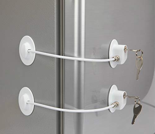 2 Pack Refrigerator Lock with 4 Keys, Refrigerator Lock Dorm...