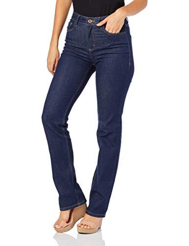 Calça Jeans Reta Flex , Malwee, Feminino, Azul Escuro, 44