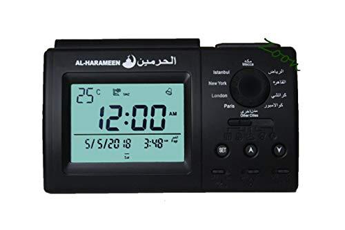 Muslim Azan Clock - Harameen 3006 Table Alarm- Islamic Prayer Five Times - Extra Instruction Manual for US Cities - ZOON
