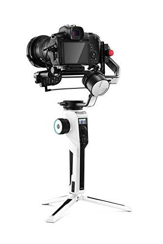 MOZA Aircross 2 stabilizzatore cardanico a 3 assi per fotocamere compatte, adatto per 4 K BMPCC, Canon EOS R, Sony a Series, carico 3,2 kg, peso cardanico 950 g (bianco)
