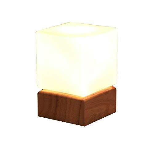 Tafellamp van glas, modern, eenvoudig af te lezen voor slaapkamer, nachtkastje, decoratie, lamp, bureaulamp, café, industriële decoratie, verlichting