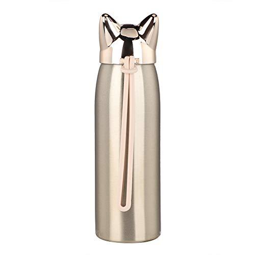 Lindo botella de vacío, ABS y 304 exterior 201 acero inoxidable y silicona acero Liner 300ml botella de agua aislada