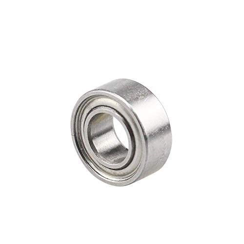 Printer Accessories 50pcs R105ZZ 5x10x4 mm Deep Groove Ball Bearing Miniature Bearing MR105Z MR105 for Openbuilds Small Wheel 3D Printing Accessories (Size : Bearing Steel) (Size : Bearing Steel)