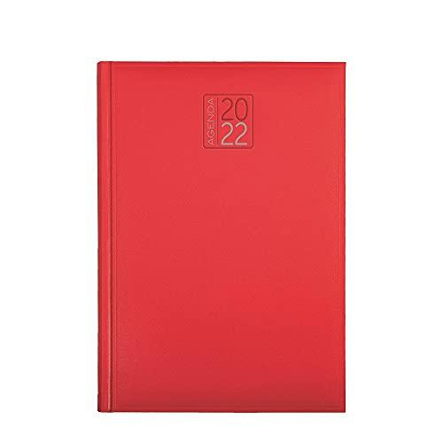 Agenda settimanale 2022 AGENDEPOINT.IT sintetico morbido liscio 17x24 - rosso