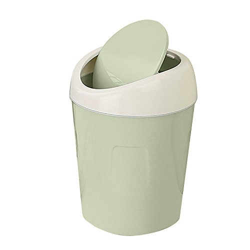 FORUU 2020 New Cute Kitchen Trash Can with Lid,Trumpet Desktops Creative Covered Living Room Mini Trash Can,Waste Basket,Small Trash Can,Best for Home Office Kitchen
