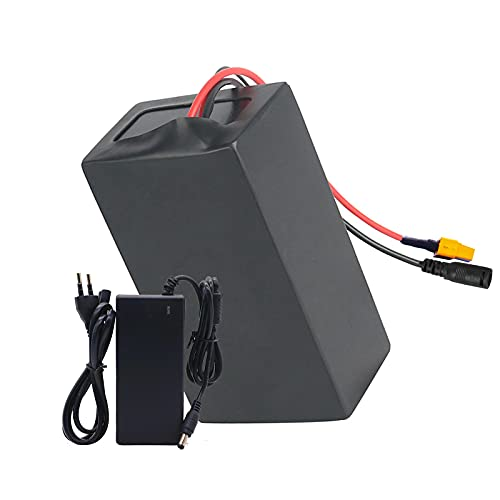 FREEDOH 48V 20Ah E-bike Lithium-ion Battery Pack 13S8P 18650 Waterproof PVC High Capacity Lithium Battery for 48V 960W Motor with 20A BMS Protective Plate+ 54.6V 2A Charger,XT60 Plug