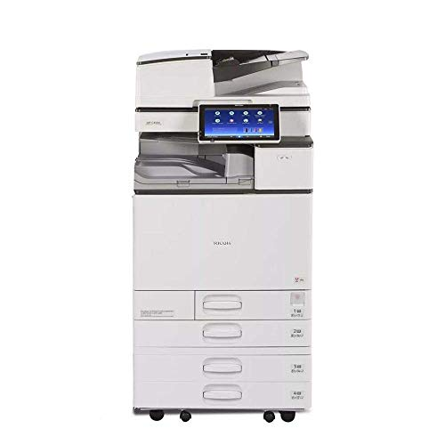 Ricoh Aficio MP C4504 A3 Color Laser Multifunction Copier - 45ppm, Copy, Fax, Print, Scan, Auto Duplex, Network, WIFI, 4 Trays and Comes with Pre-Installed Postscript 3 Supplement (Renewed)