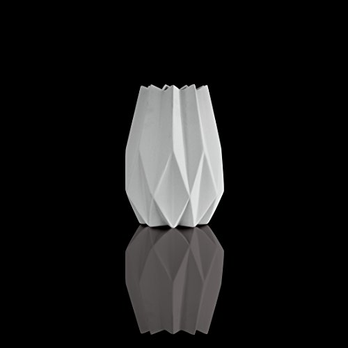 Goebel - Vase - Polygono Star - Porzellan - weiß 21,5 cm