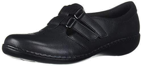 Clarks Women's Ashland Harbor Loafer, Black Leather, 6.5 M US