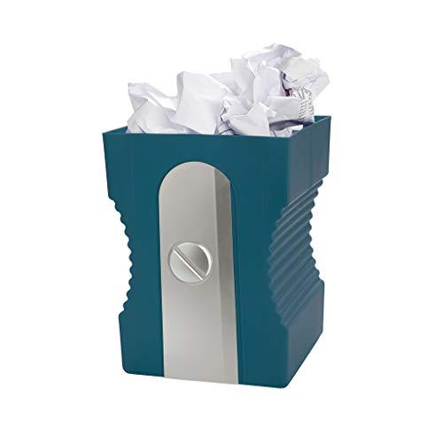 balvi Papierkorb Sharpener Farbe Marineblau Recycling-Papierkorb Das ideale Zubehör für das Arbeitszimmer oder für ins Büro ABS-Kunststoff/Polypropylen 29 x 21,5 x 21 cm