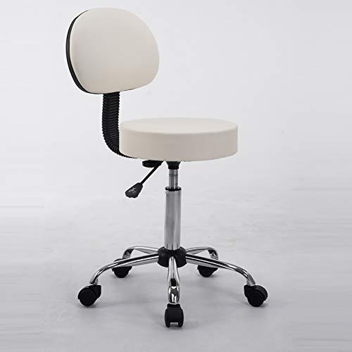MG-GRD Hoofdkruk Barbüro salonkruk bureaustoel draaikruk Beauty, 360 ° draaibaar, in hoogte verstelbaar