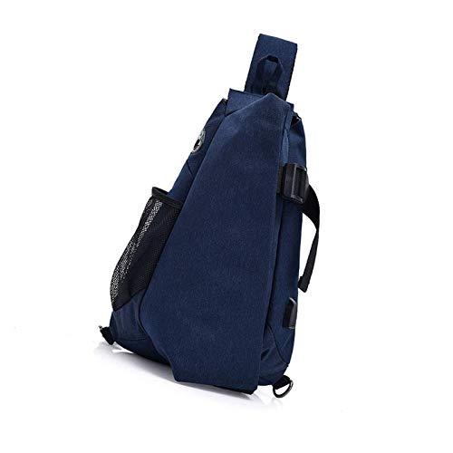 MISS KANG Bolsa de Honda Bolsas de Pecho Hombro para Hombres Muchacho Mujeres Crossbody Senderismo Mochila Azul Qingchunw