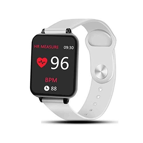 Sporthorloge, met chip, waterdicht, voor iPhone, telefoon, smartwatch, hartslagmonitor, bloeddruk voor vrouwen en mannen, armband met chip (kleur: wit) mey, Wit