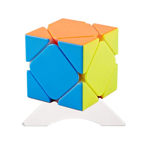 FunnyGoo Cyclone Boys Skewb M Cube Speed Puzzle Smooth Cube Twist Toys with One Cube Stand Stickerless