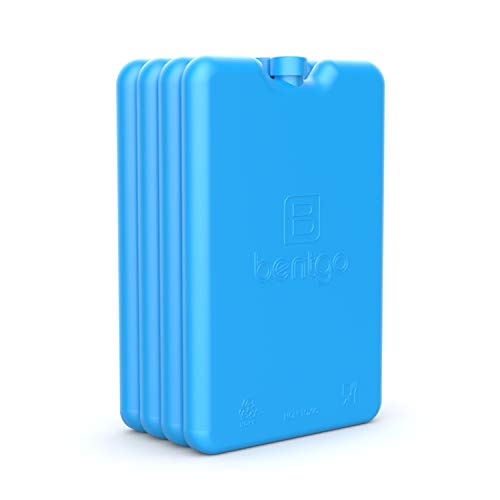 Bentgo Ice Lunch Chillers - Ultra-Thin Ice Packs Perfect for Everyday Use in Lunch Bags, Lunch Boxes and Coolers - 4 Pack (Blue)