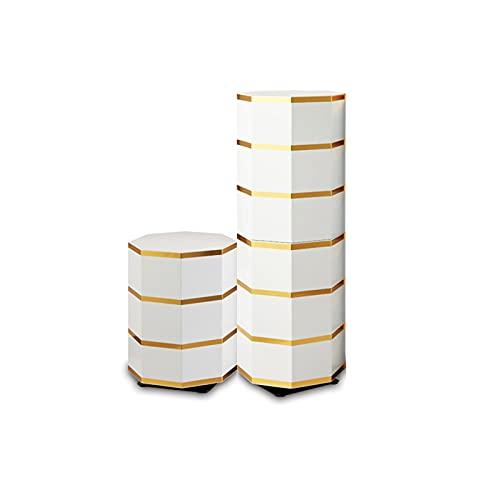 Combinazione di Armadietti per Scarpiera in Metallo Mobili per Corridoio,Portascarpe Girevole in Piedi Armadio per Camera da Letto Salvaspazio Multifunzione di Grande Capacit(Size:45+86cm)