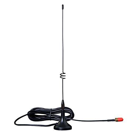 EasyTalk Antenne radio mobile à double bande VHF UHF, longue portée haut débit UT-108UV - Pour émetteur-récepteur radio de voiture Yaesu, Kenwood, HYT, Vertex, Wouxun, Baofeng et TYT