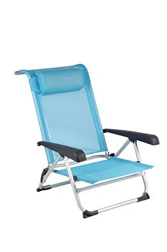 Red Mountain Deluxe Sdraio Pieghevole da Spiaggia, Colore: Blu