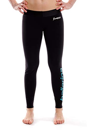 ballarina Beachvolleyball Tight Longpant, schwarz-türkis (M)