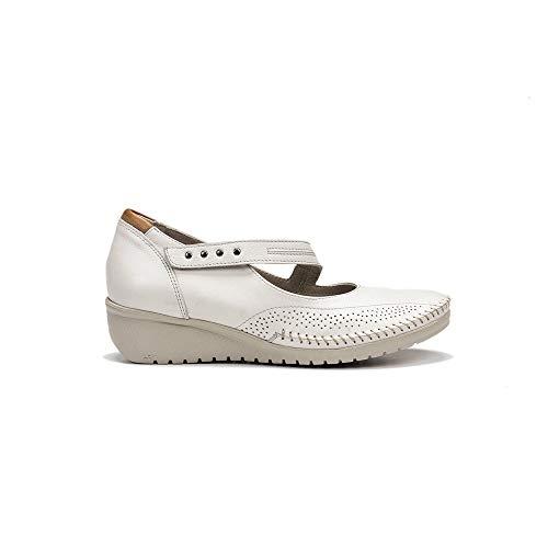 FLUCHOS 757 Zapato Merceditas Piel Mujer BEIG 38