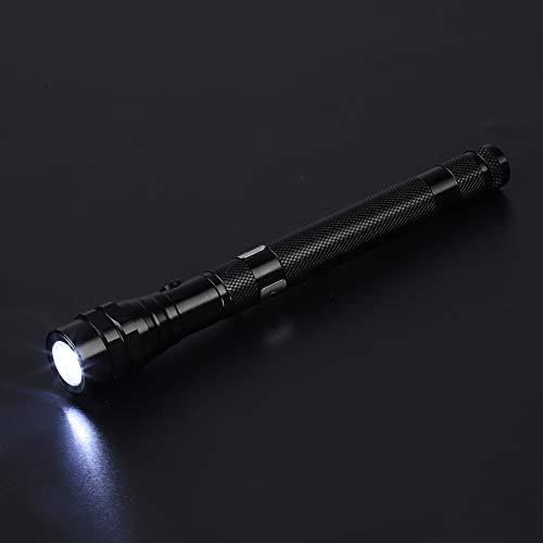 Fendysey Linterna Flexible LED antioxidante, Mango Antideslizante, portátil, liviano, con Cuello telescópico, Mini Linterna, para Estrecho rincón(Black)