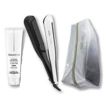 LOréal Professionnel Steampod 3.0 alisador + crema para cabello grueso 150 ml + Estuche de almacenamiento + cepillo: Amazon.es: Salud y cuidado personal