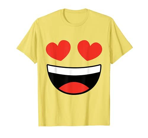 Corazón Ojos Emoji Disfraz Emoticon Camiseta